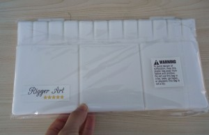 Watercolors Plastic Palette with logo